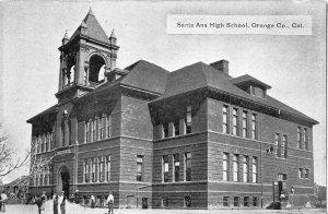 SANTA ANA HIGH SCHOOL Orange County, California ca 1910s Vintage Postcard