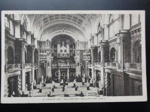 Glasgow: Kunst Galerien - Skulptur Halle, alt Postkarte