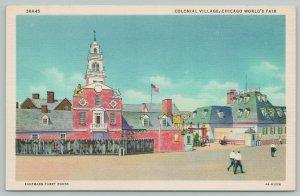 Chicago 1933 World's Fair~Colonial Village CT~ART DECO Linen