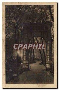Postcard Old Paris night Parc Monceau
