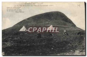 Postcard Old Picturesque Cantal Summit of the Lead of the Cantal