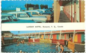 Canada, Lahoud Motel, Beauport, PQ, 1950s unused Postcard