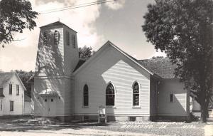 Belmond Iowa~Methodist Church~House~1955 Real Photo Postcard~RPPC