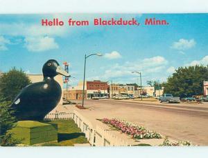 Unused Pre-1980 STREET SCENE Blackduck Minnesota MN hp1812