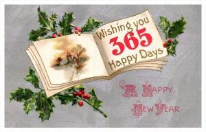 8900  Happy New Year open book 365 happy days