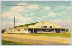 Camp Chaffee (Fort Smith) Arkansas~Fieldhouse for Military Unit~Linen c1949