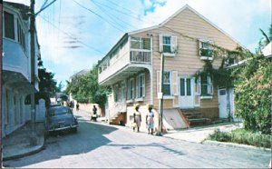 Nassau Bahamas - MARKET STREET in Old Towne,, 1950s
