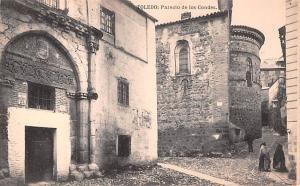 Spain Old Vintage Antique Post Card Palacio de los Condes Toledo Unused