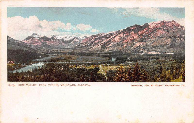 Bow Valley, From Tunnel Mountain, Alberta, Canada, 1902 Postcard, Unused