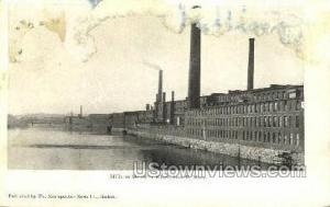 Mills & Merrimac River Lowell MA Unused