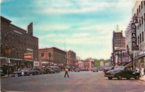 Autos Colorpicture NASHUA NEW HAMPSHIRE 1940s Theatre Marquee Main postcard 5193