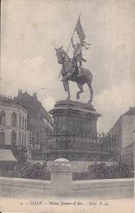 Statue Jeanne D'Arc, Lille (Nord), France, 1900-1910s