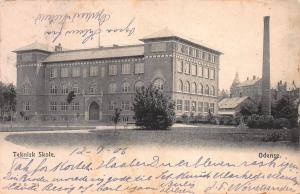 Technical School, Odense, Denmark, Early Postcard, Used in 1906