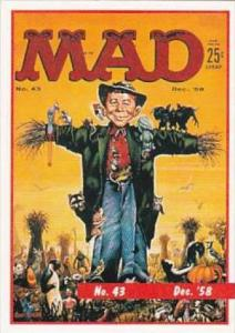 Lime Rock Trade Card Mad Magazine Cover Issue No 43 Dec 1958
