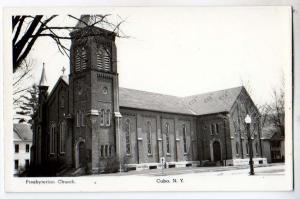 RPPC, Presbyterian Church, Cuba NY