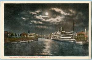 NY - Albany, Waterfront by Moonlight