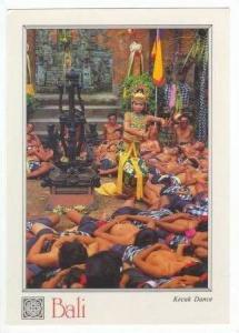 Kecak Dance, Costumed Woman, Men Sleeping at her Feet, Statue, Bali, Indonesi...
