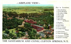 3741 Aerial View of Sanitarium and Clinic Clifton Springs NY