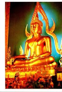 Thailand Bangkok Statue Of Lord Buddha In Wat Benchamabophitr Marble Temple