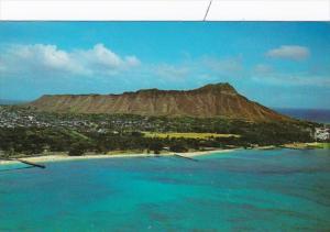 Hawaii Oahu View Of Diamond Head 1984