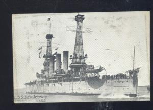UNITED STATES NAVY BATTLESHIP USS NEW JERSEY MILITARY SHIP VINTAGE POSTCARD
