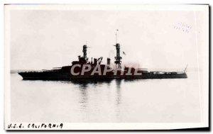 Postcard Old Ship USS California