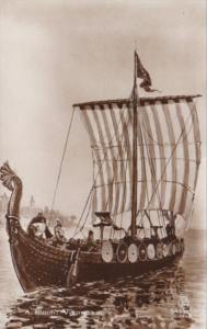 Viking Ship A Bloch Real Photo