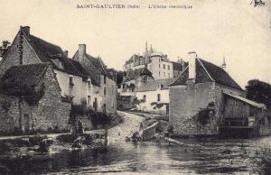 Postcard Vintage SAINT GAULTIER L'Usine electrique French Reproduction