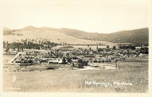 Hot Springs Montana~City Panorama~1940s Real Photo Postcard~RPPC