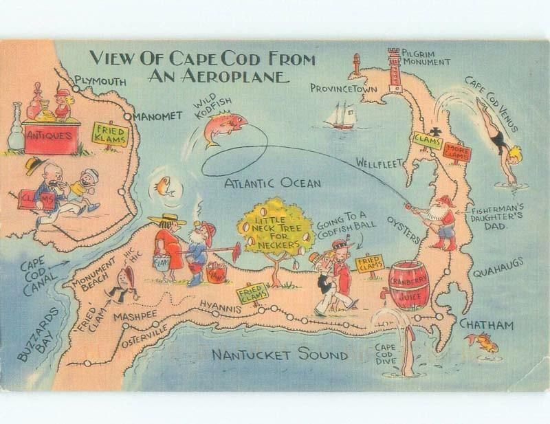 Linen CAPE COD TOURIST MAP ON POSTCARD Provincetown ... on yarmouth ma map, greenwich ma map, millers falls ma map, cape cod map, chatham bars inn, newtonville ma map, chatham mass, attleboro ma map, northumberland ma map, chatham massachusetts, massachusetts ma map, portsmouth ma map, south boston ma map, camp edwards ma map, woodbridge ma map, westfield ma map, dunstable ma map, east orleans ma map, new marlborough ma map, martha's vineyard ma map,