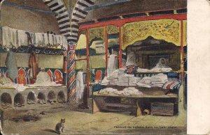 Arab Culture, Hammam, Turkish Bath, Beautiful interior, ca. 1910 Middle East