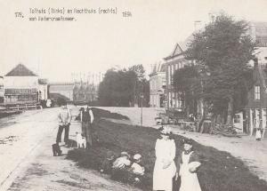 Tolhuis En Rechthuis Von Waterfraafsmeer 1894 Postcard