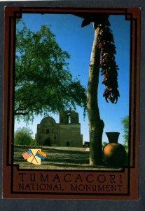 AZ Tumacacori National Monument Mission Pima Indians nr Carmen Arizona Postcard
