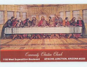 Pre-1980 WOOD-BURNING OF JESUS SUPPER Apache Junction By Mesa & Phoenix AZ A6039