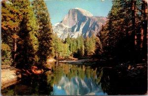 Yosemite National Park CA Photo LAKE MTN 1960s - Chrome Posted Postcard Vintage