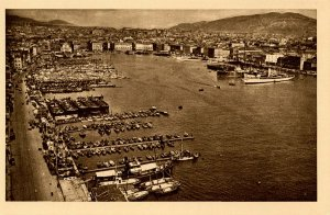 France - Marseille. General View of the Harbor
