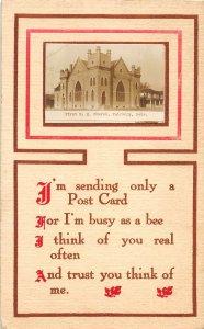 F97/ Fairbury Nebraska RPPC Postcard c1910 First M.E. Church 15