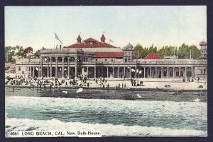 New Bath House Long Beach California unused c1910