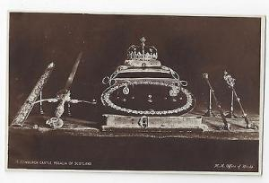 UK Scotland Edinburgh Castle Crown Jewels Regalia H. M. Office of Works Postcard