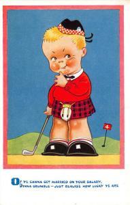 Scottish Golfer on The 4th Green Vera Peterson Postcard