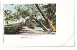 Asheville NC Lovers Bridge Swannanoa UDB Leighton c 1907