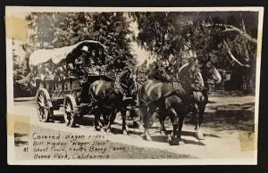 Covered Wagon Rides Buena Park California Knott's Berry Farm Real Photo