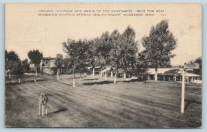 Postcard MN Mudbaden Sulphur Mud Baths Sulphur Springs Health Resort c1940s P18