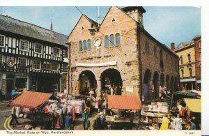 Herefordshire Postcard - The Market - Ross On Wye - Ref 1164A
