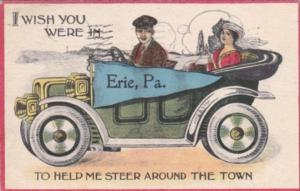 Pennant Series Humour I Wish You Were In Erie Pennsylvania 1914