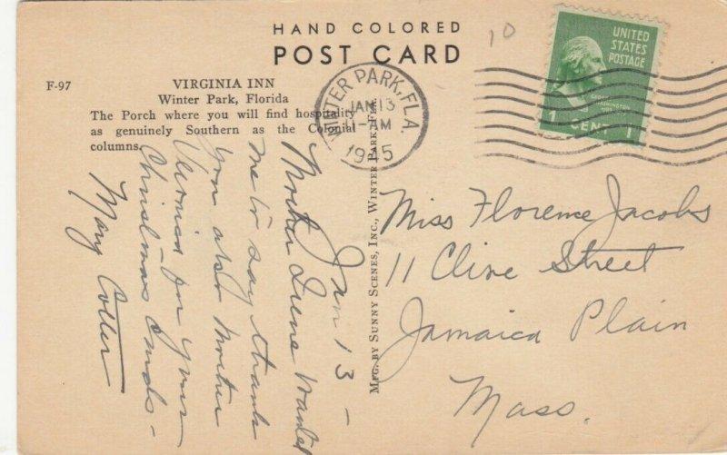 WINTER PARK , Florida , 1945 ; Virginia Inn