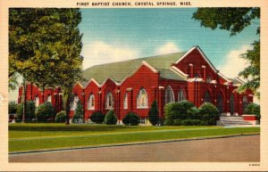 Mississippi Crystal Springs First Baptist Church