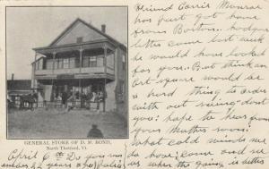 NORTH THETFORD , Vermont, PU-1907 ; General Store of D.M. Bond
