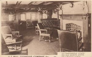 U.S. Mail Steamship Company , 1930s ; Smoke Cabin