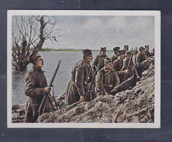 GERMANY TOBACCO CARD WWI 6x5 cms. SOLDIERS AAD5162